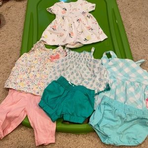 Carter's 3 month summer girls lot floral 7 pieces